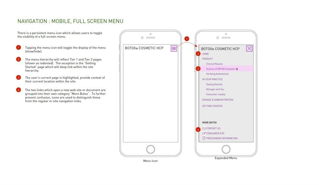 Allergan HCP Site Mobile Menu