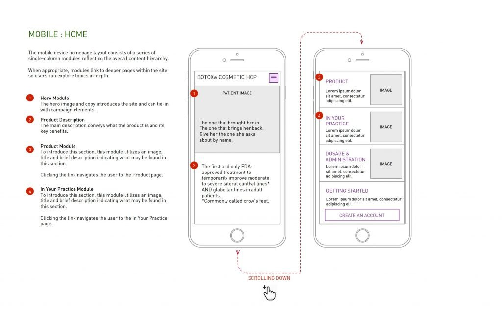 Allergan HCP Site WIreframe